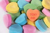"Valentine Candy Hearts ""Text Me"" — Stock Photo"
