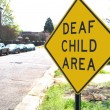 Deaf Child traffic sign — Stock Photo