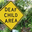 Deaf Child traffic sign — Stock Photo #23713753