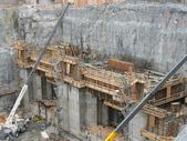 Hydroelectric power plant construction in north of Quebec, Canada (1) — Stock Photo