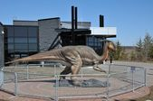 Dynosaur statue, Sudbury, Canada (2) — Stock Photo