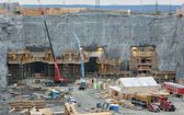 Hydroelectric power plant construction in north of Quebec, Canada (2) — Stock Photo