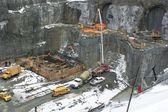 Hydroelectric power plant construction in north of Quebec, Canada (5) — Stock Photo