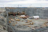 Hydroelectric power plant construction in north of Quebec, Canada (8) — Stock Photo