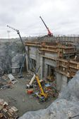 Hydroelectric power plant construction in north of Quebec, Canada (7) — Stock Photo