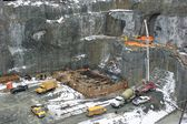Hydroelectric power plant construction in north of Quebec, Canada (11) — Stock Photo