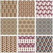 Stock Vector: Set of seamless retro patterns