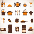 Vector kitchen icons set — Stockvektor