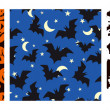 Vector de stock : Halloween seamless patterns