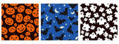 Halloween seamless patterns — Stock Vector