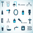 Stock Vector: Bathroom and toilet icons