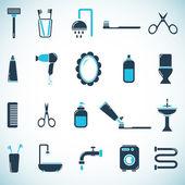 Iconos de baño y aseo — Vector de stock