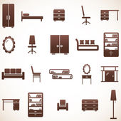 Furniture icons set — Stockvektor