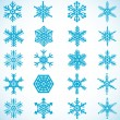 Snowflakes icon collection — Stock Vector