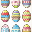 Stock Vector: Easter eggs