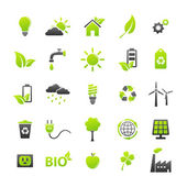 Ecology icons set — Vector de stock
