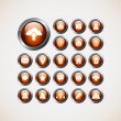 Set of web icons,buttons — Stock Vector #26865325