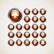 Set of web icons,buttons — Imagen vectorial