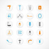 Bathroom and toilet icons — Stock Vector