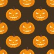 Stock Vector: Seamless pattern with pumpkins