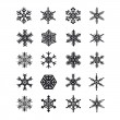Stock Vector: Snowflakes icons