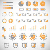 Indicators collection — Stock Vector