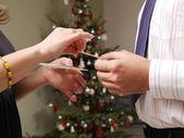 Nochebuena oblea compartir — Foto de Stock