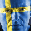 Swedish supporter — Stock Photo #19210907