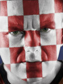 Croatian supporter — Stock fotografie