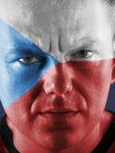 Czech supporter — Stock Photo