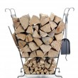 Firewood metal stand — Stock Photo #21004635