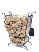 Firewood metal stand — Stock Photo