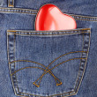 Heart out of pocket — Stock Photo