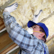 Attic thermal insulation — Stock Photo