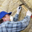 Attic thermal insulation - Stock Photo