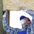 Attic thermal insulation — Stock Photo #21290703