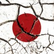 Cracked Japan flag — Stock Photo
