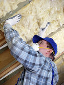 Attic thermal insulation — Stok fotoğraf