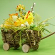Easter cart — Stock Photo