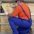 Thermal insulation work — Foto de stock #21424913
