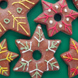 Star shaped gingerbread cookies — Photo