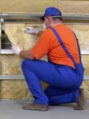 Lavori di isolamento termico — Foto Stock