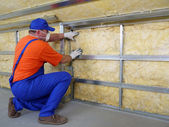 Thermal insulation work — Foto de Stock