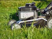 Closeup of grassmower in the grass — Stock Photo