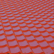 Red roof — Stock Photo