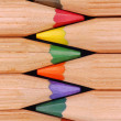 Wooden crayons — Stock Photo