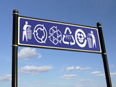 Recycling signs — Stock Photo
