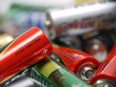 Used AA batteries — Stock Photo