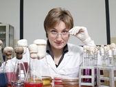 Female laboratory technician — Stock Photo