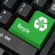 Recycle key — Stock Photo